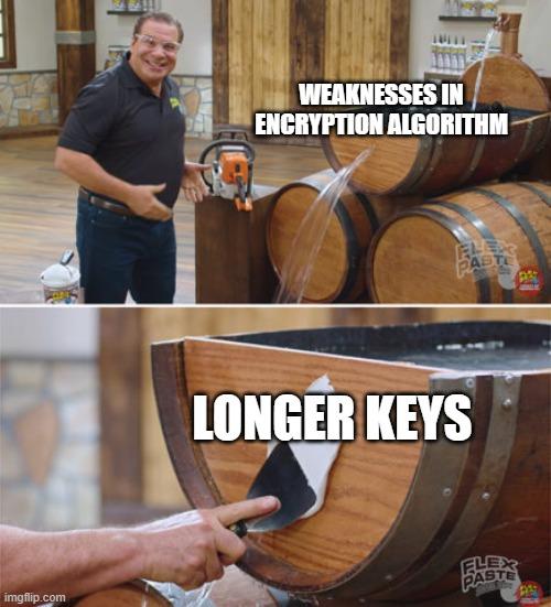 4096-bit should do it   algorithm-memes, encryption-memes   ProgrammerHumor.io