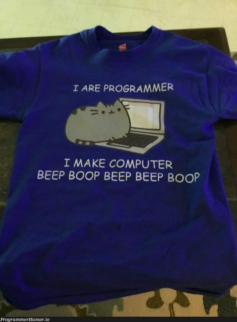 A shirt I got for Christmas | computer-memes, oop-memes | ProgrammerHumor.io