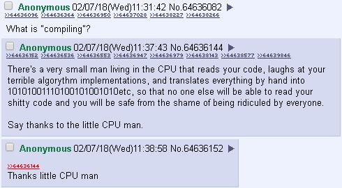 Thanks, little CPU man. | code-memes | ProgrammerHumor.io