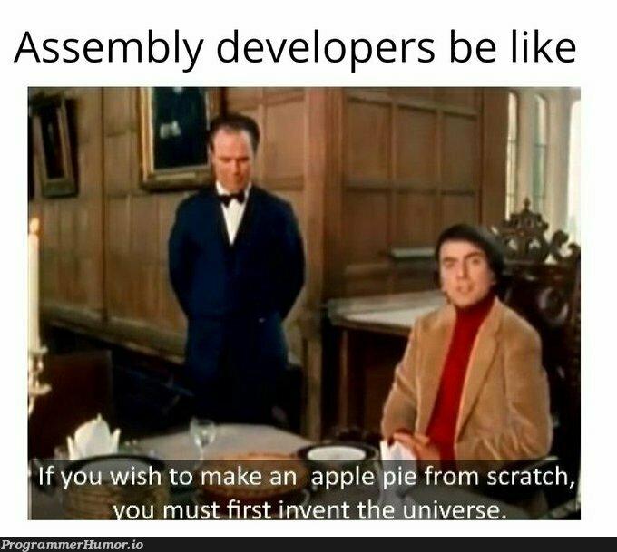 assembly developers | developer-memes, assembly-memes, apple-memes | ProgrammerHumor.io