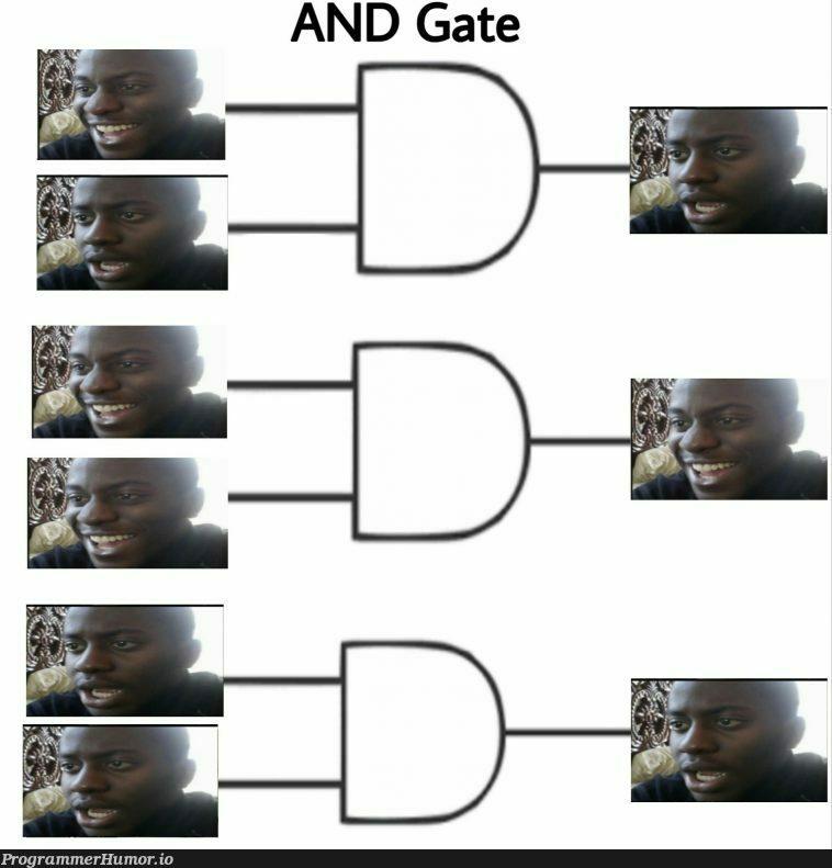 AND Gate explained using meme. | ProgrammerHumor.io