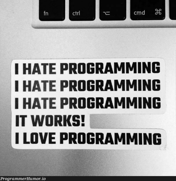There is a thin Line Between Hate and Love, and that is ...   programming-memes, program-memes   ProgrammerHumor.io