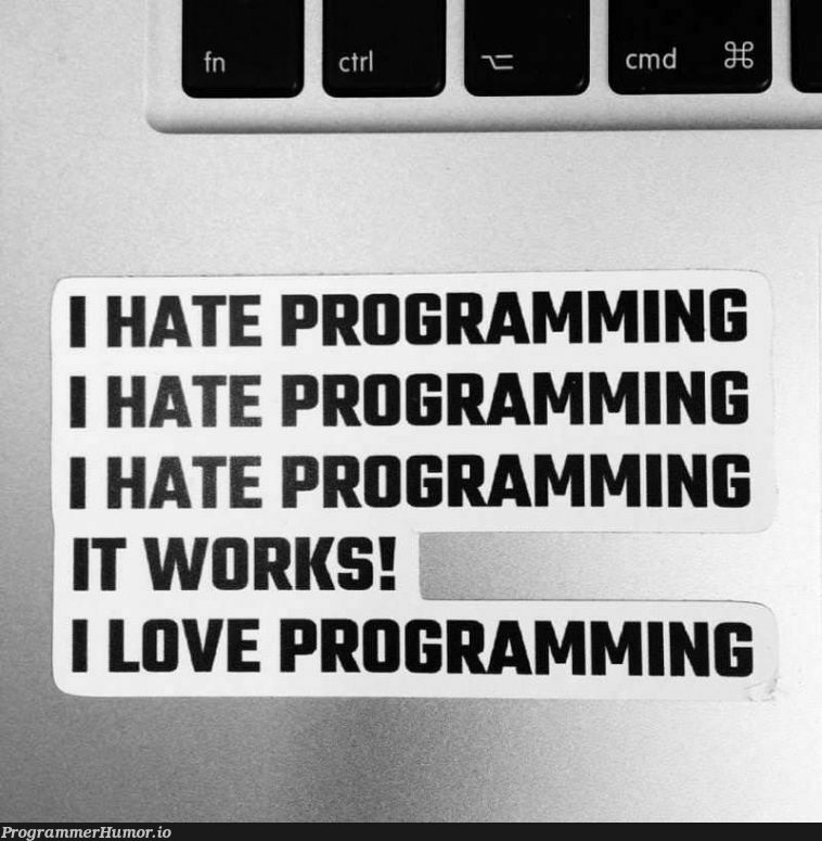 There is a thin Line Between Hate and Love, and that is ... | programming-memes, program-memes | ProgrammerHumor.io