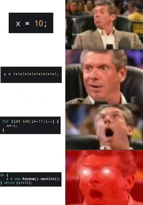 Best way to assign values (by @Yassen1444) | random-memes | ProgrammerHumor.io