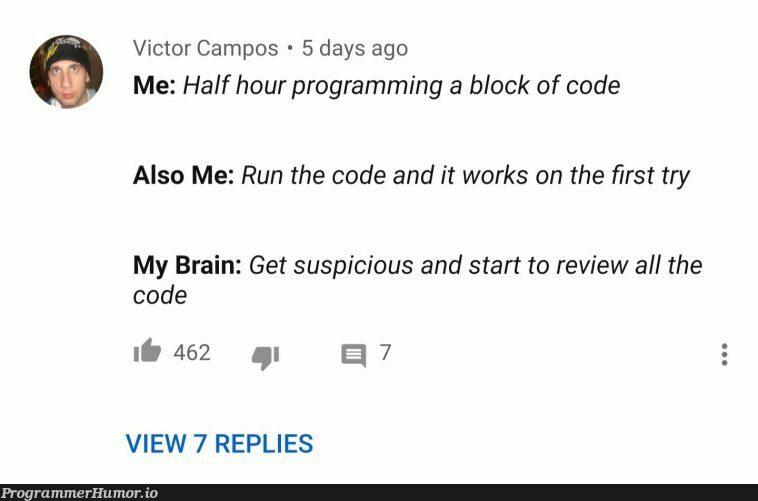 This guy knows how to program.   programming-memes, code-memes, program-memes, try-memes, loc-memes, lock-memes, IT-memes   ProgrammerHumor.io