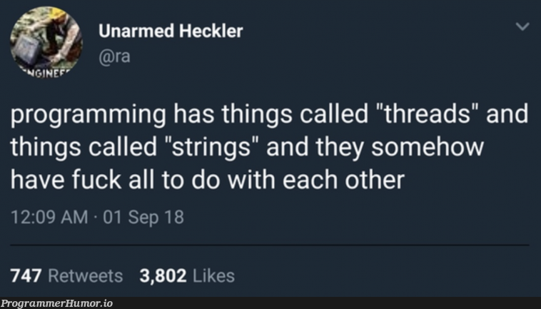The subtle art of abstraction naming | programming-memes, threads-memes, program-memes, string-memes, retweet-memes | ProgrammerHumor.io