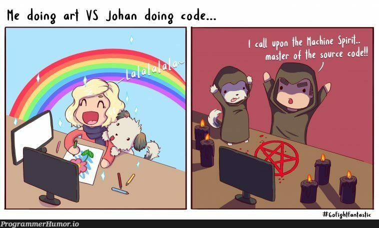 Art vs Code   code-memes, vs code-memes   ProgrammerHumor.io