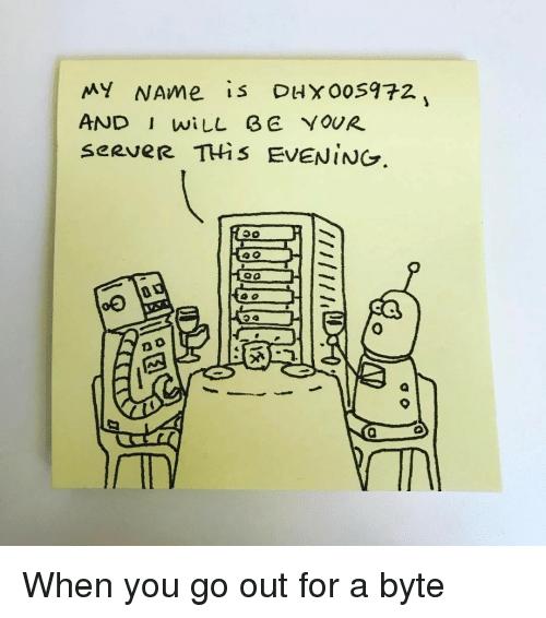 Hello! I am your server for today! | server-memes | ProgrammerHumor.io