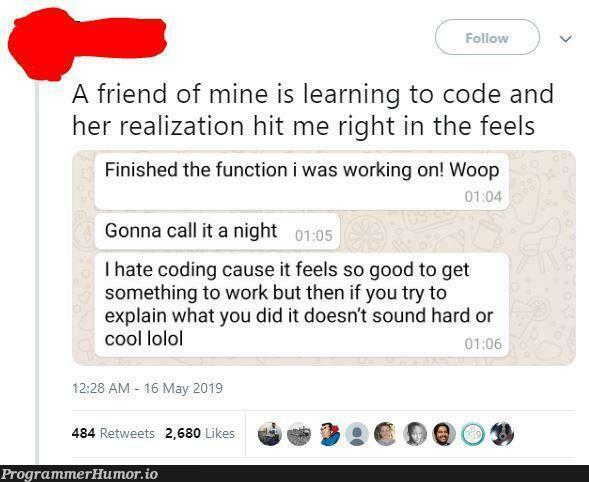 feelsbadman | coding-memes, code-memes, try-memes, function-memes, oop-memes, IT-memes | ProgrammerHumor.io