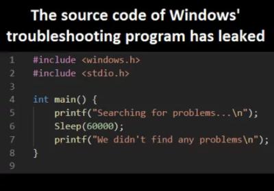at it again   code-memes, program-memes, windows-memes, search-memes, IT-memes, source code-memes   ProgrammerHumor.io