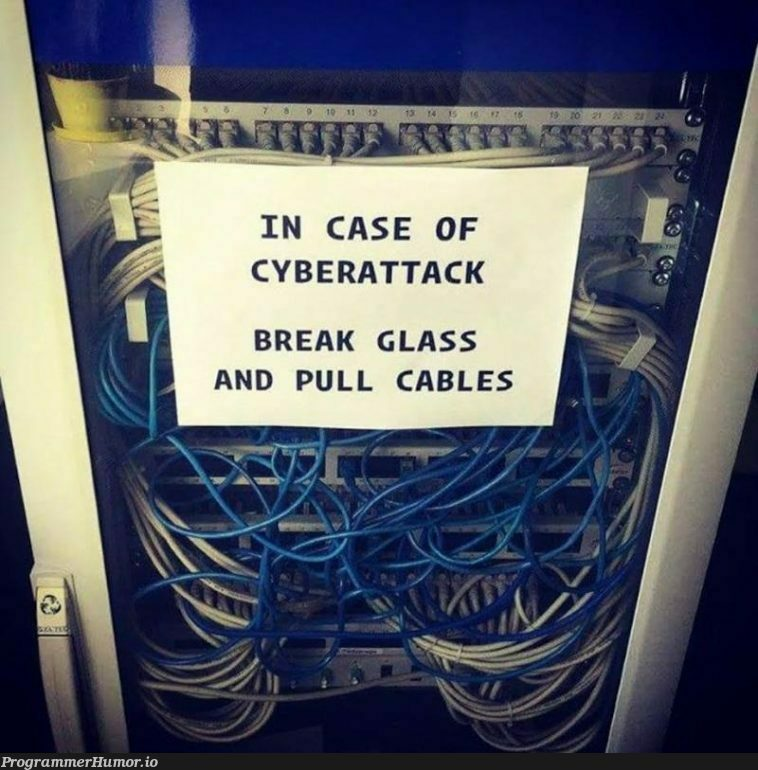 Best protection from cyber attacks | ProgrammerHumor.io