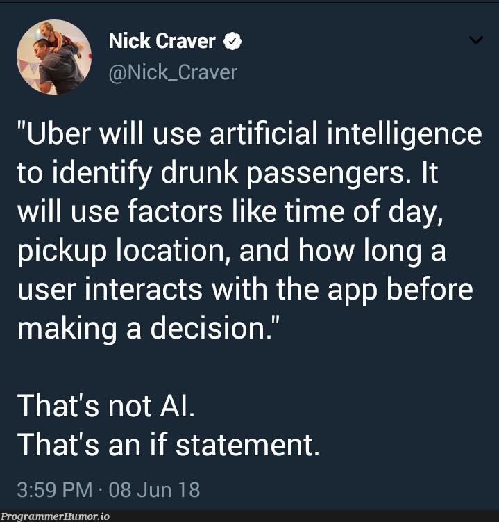 When someone asks how AI works   loc-memes, if statement-memes, IT-memes, ide-memes, artificial intelligence-memes   ProgrammerHumor.io