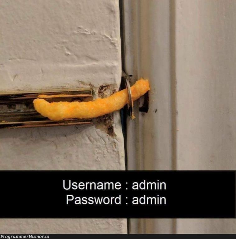 12345 | password-memes | ProgrammerHumor.io