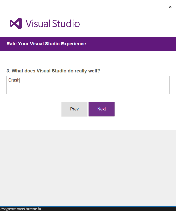 What does Visual Studio do really well?   visual studio-memes   ProgrammerHumor.io