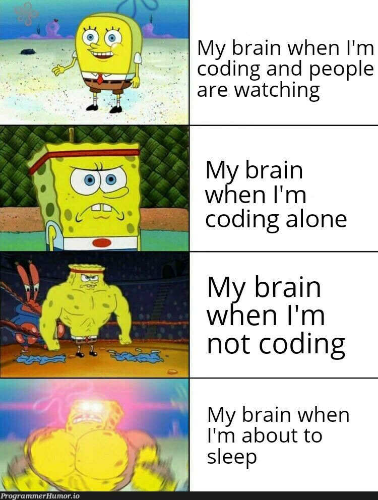 Thinks of good algorithms before falling asleep and forgets everything when I wake up | coding-memes, algorithm-memes, algorithms-memes | ProgrammerHumor.io