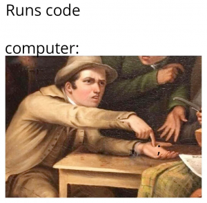 Roses are red violets are blue your missing a ';' in line 32 | code-memes, computer-memes | ProgrammerHumor.io