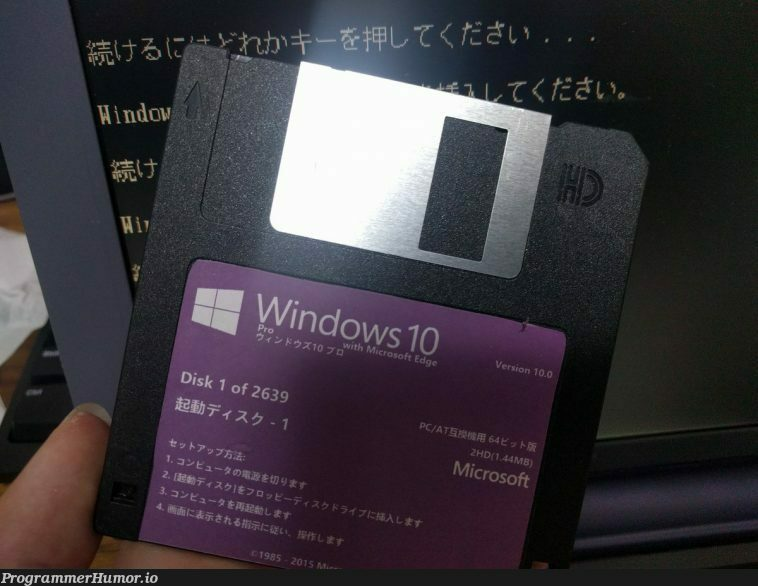 Windows 10 Installer | windows-memes | ProgrammerHumor.io