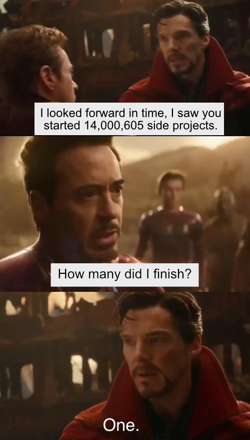 Side projects...   ide-memes   ProgrammerHumor.io