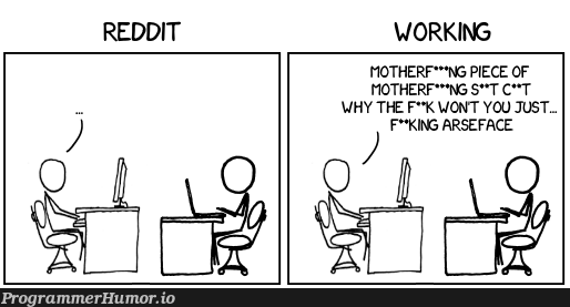 How to tell if my co-worker is actually working | reddit-memes | ProgrammerHumor.io