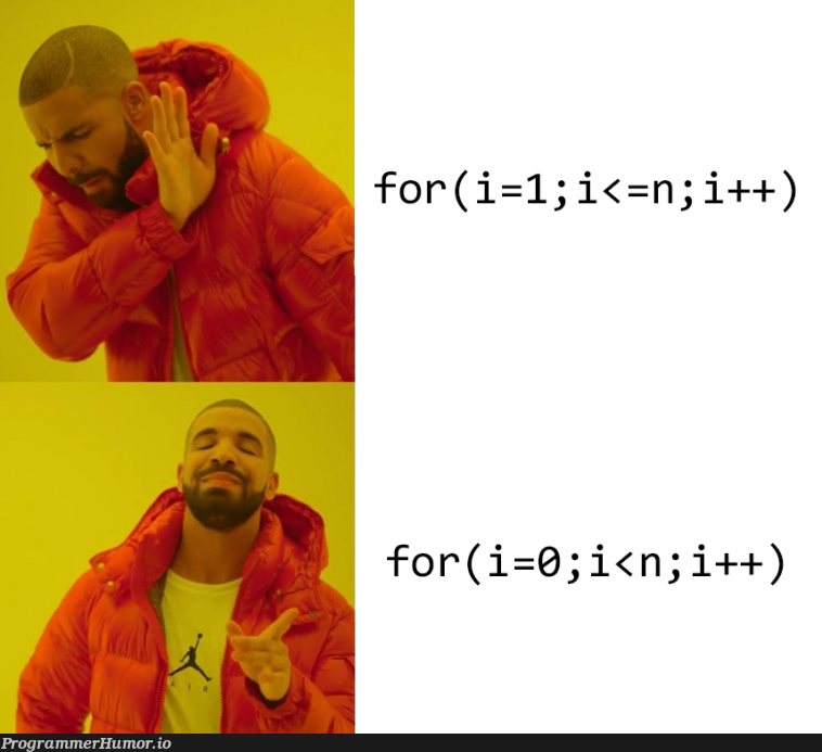 Ways of doing a for loop. | for loop-memes, oop-memes | ProgrammerHumor.io
