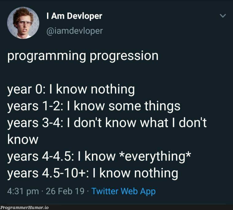 Probably every programmer   programming-memes, programmer-memes, web-memes, program-memes, twitter-memes   ProgrammerHumor.io