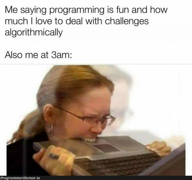 It's all fun untill until you get a bug that u can't find in stackOverflow   programming-memes, stackoverflow-memes, stack-memes, program-memes, bug-memes, algorithm-memes, overflow-memes   ProgrammerHumor.io