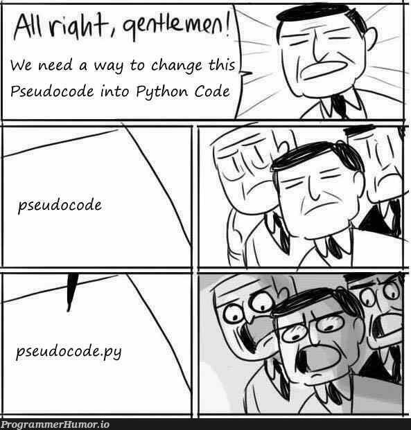 Pseudocode | code-memes, python-memes, Pseudocode-memes | ProgrammerHumor.io