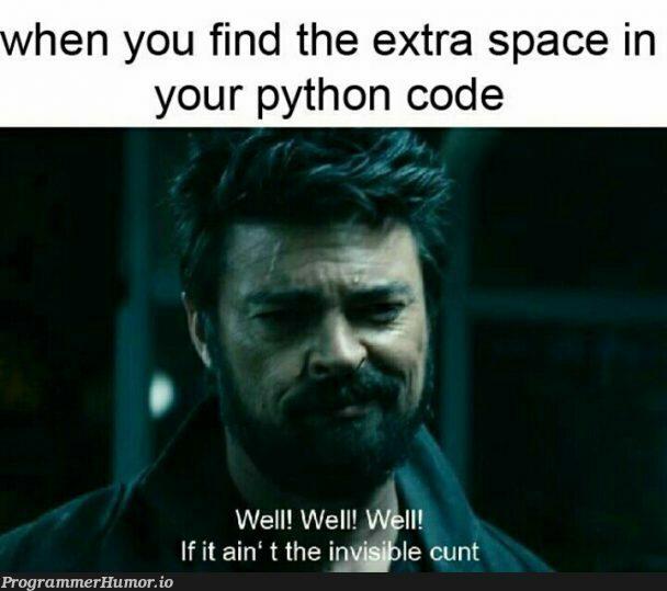Python | code-memes, python-memes, IT-memes, space-memes | ProgrammerHumor.io
