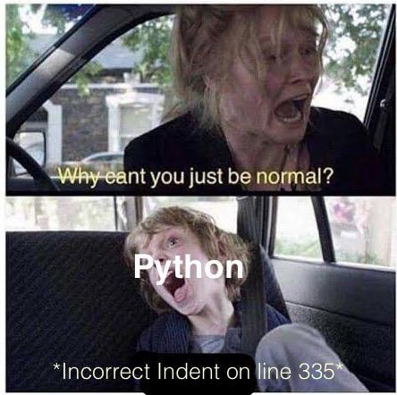 Why you do this python?!   python-memes   ProgrammerHumor.io
