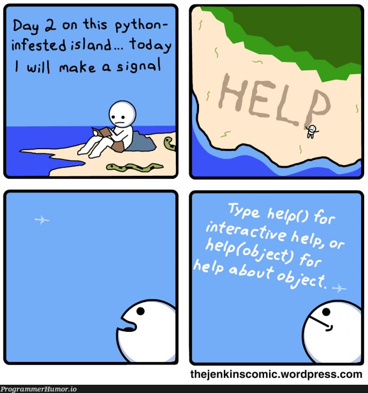 help | python-memes, wordpress-memes, jenkins-memes | ProgrammerHumor.io