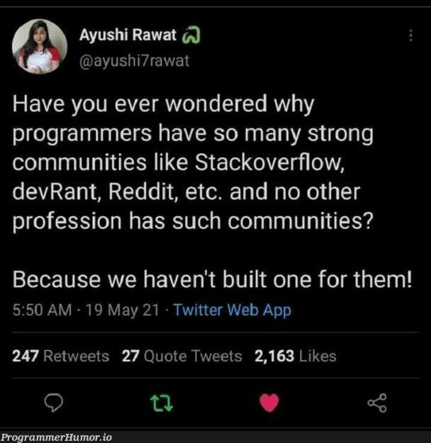 Lol can't deny | programmer-memes, web-memes, stackoverflow-memes, stack-memes, program-memes, overflow-memes, reddit-memes, twitter-memes, retweet-memes | ProgrammerHumor.io