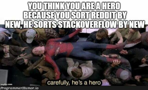 Who visits the Stackoverflow homepage? | web-memes, stackoverflow-memes, stack-memes, overflow-memes | ProgrammerHumor.io