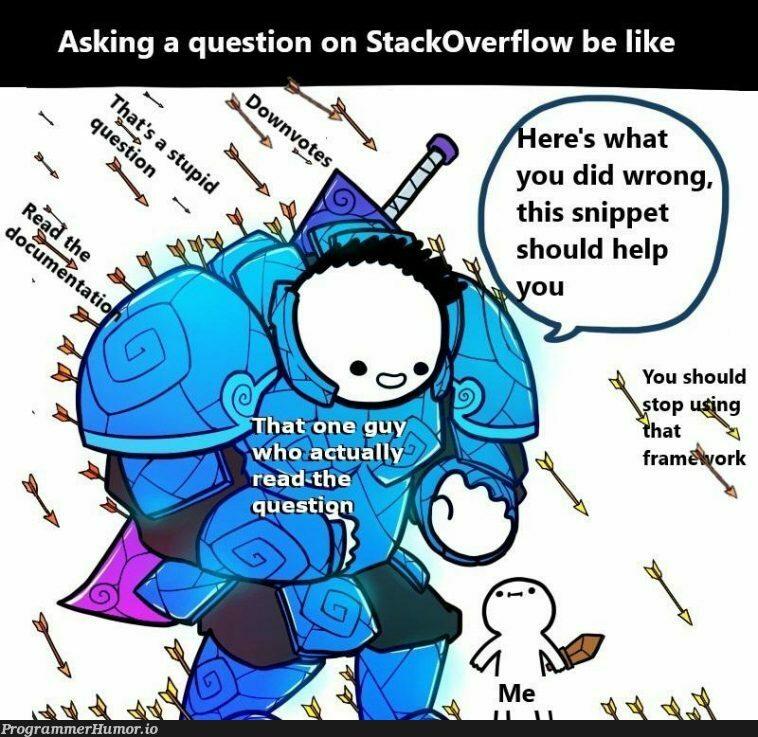 The real hero | stackoverflow-memes, stack-memes, overflow-memes | ProgrammerHumor.io