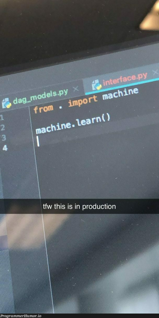 Wrote this code as a joke a while back; forgot to change it; now it's in production | code-memes, production-memes, product-memes | ProgrammerHumor.io
