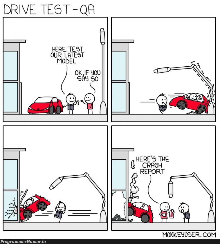 Test drive development | development-memes, test-memes | ProgrammerHumor.io
