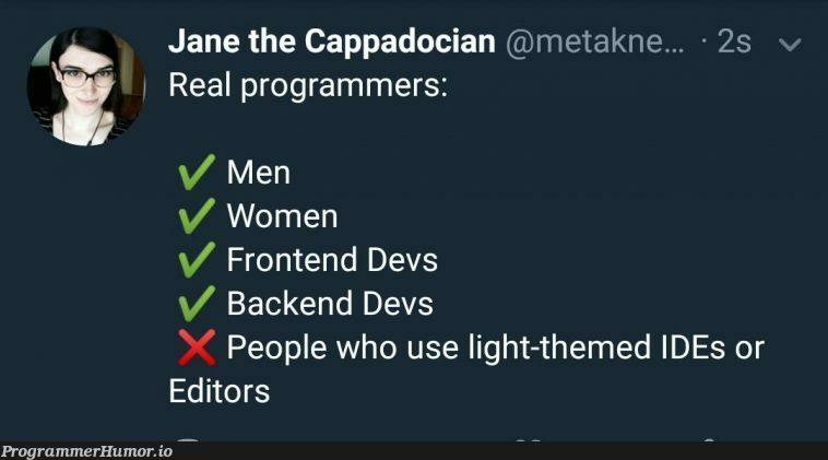 Turn out the lights >:o | backend-memes, frontend-memes, devs-memes, ide-memes | ProgrammerHumor.io
