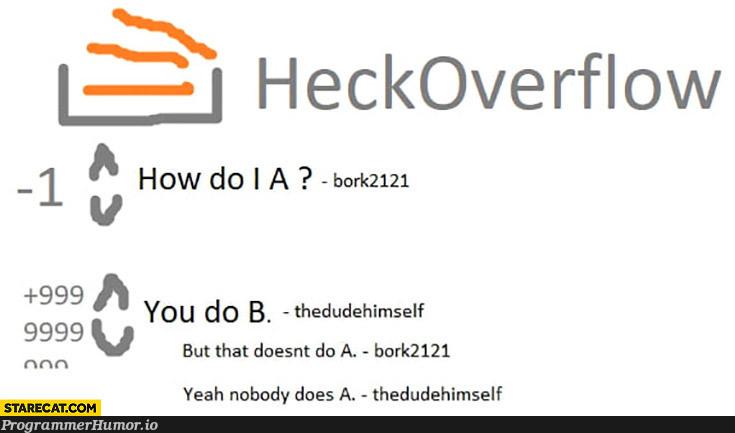 Bork Overdrive | c-memes, overflow-memes | ProgrammerHumor.io