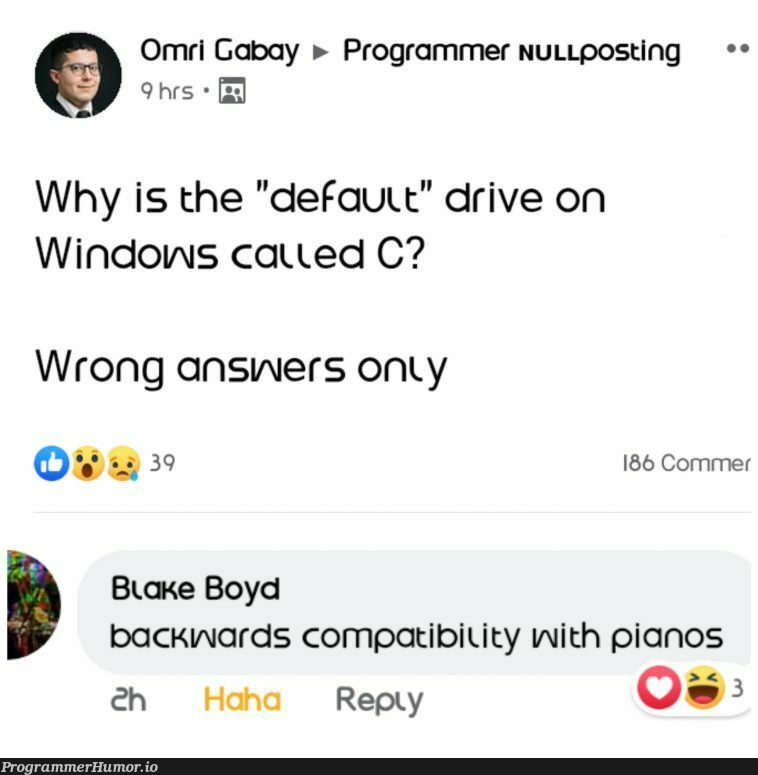 C# was invented just for Backward Compatibility | programmer-memes, program-memes, rds-memes, c#-memes | ProgrammerHumor.io