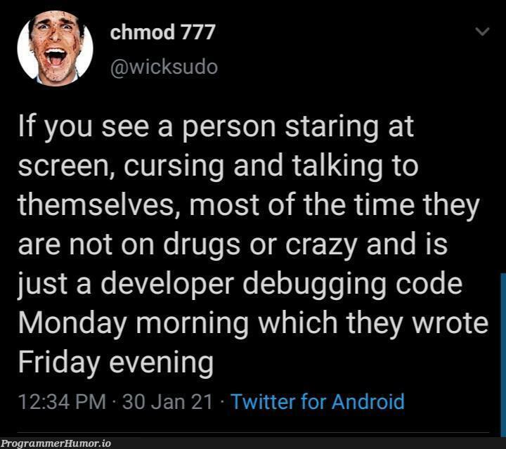 Wait I've been through this | developer-memes, code-memes, android-memes, debugging-memes, bug-memes, debug-memes, sudo-memes, twitter-memes | ProgrammerHumor.io
