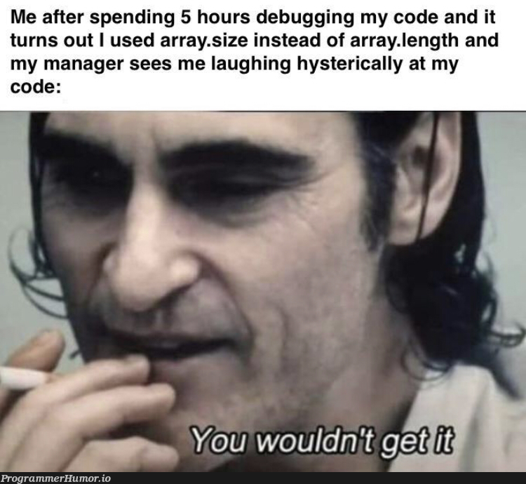 I hate switching between Java and a JavaScript   javascript-memes, code-memes, java-memes, array-memes, debugging-memes, bug-memes, debug-memes, IT-memes, manager-memes   ProgrammerHumor.io