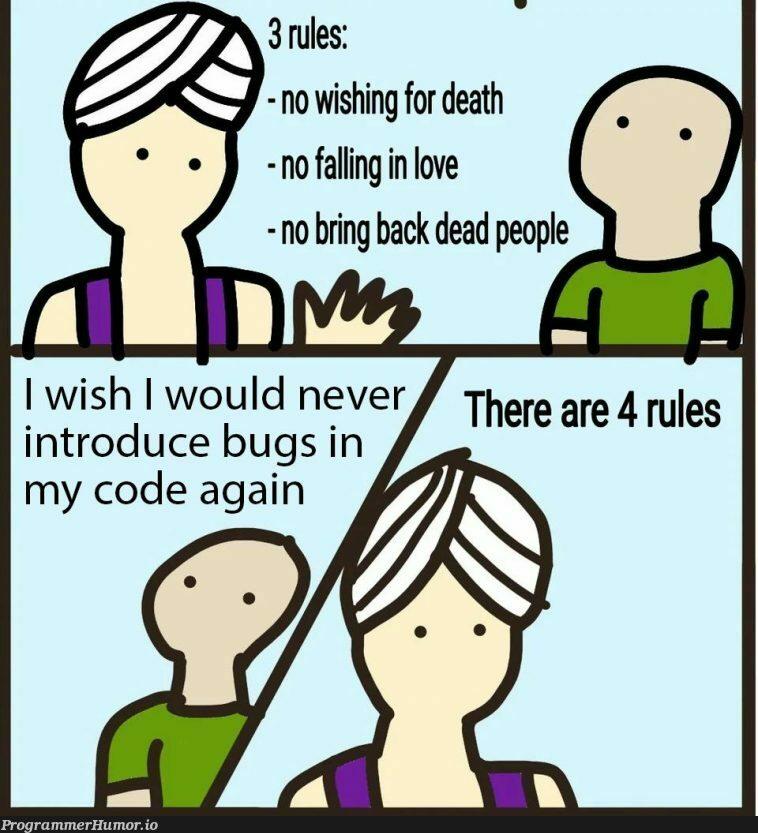 99 little bugs in the code. Fix it up. 107 little bugs in the code.   code-memes, bugs-memes, bug-memes, fix-memes, IT-memes   ProgrammerHumor.io