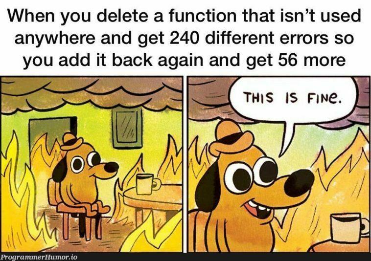 Why the fuck does this happen | errors-memes, function-memes, error-memes, IT-memes | ProgrammerHumor.io