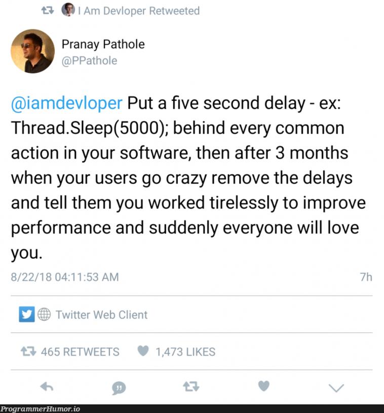 How to make your users love you 101   software-memes, web-memes, performance-memes, ssl-memes, cli-memes, twitter-memes, retweet-memes   ProgrammerHumor.io