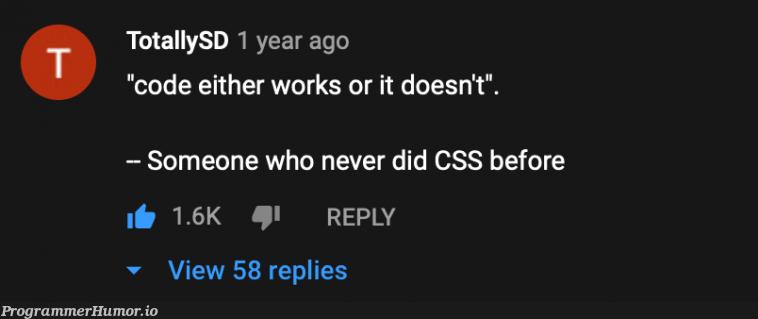 i painfully relate | css-memes, code-memes, cli-memes, IT-memes, cs-memes | ProgrammerHumor.io