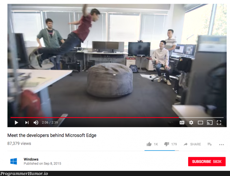 This explains everything.   developer-memes, windows-memes, microsoft-memes, edge-memes   ProgrammerHumor.io