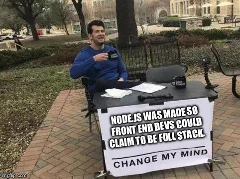 It's javascript all the way down   javascript-memes, java-memes   ProgrammerHumor.io