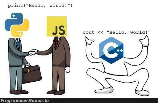 Let's make fun of C++ instead of JavaScript for a change. | javascript-memes, java-memes, c++-memes | ProgrammerHumor.io