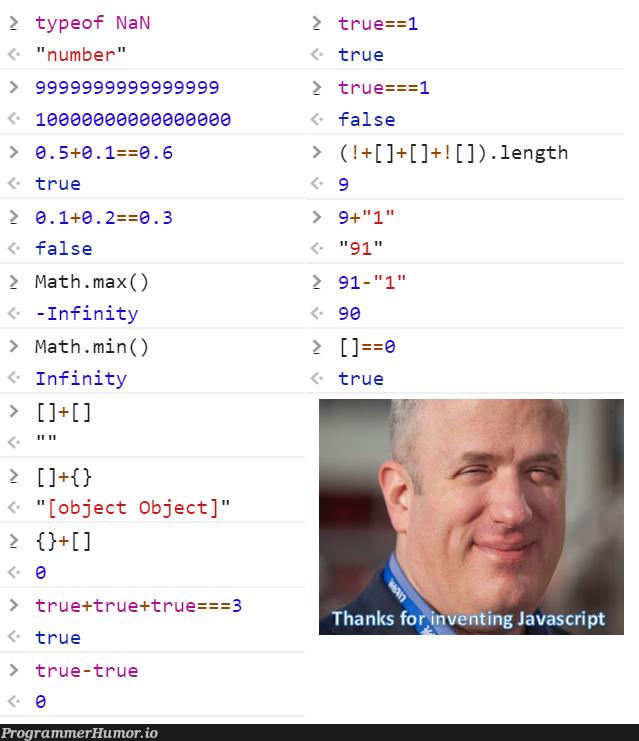 Thanks Brendan for giving us the Javascript   javascript-memes, java-memes, object-memes   ProgrammerHumor.io