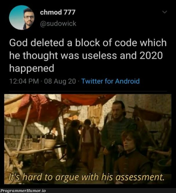 If it works don't touch it   code-memes, android-memes, loc-memes, lock-memes, sudo-memes, IT-memes, twitter-memes   ProgrammerHumor.io