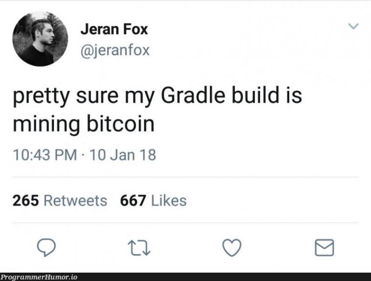 That actually makes sense | gradle-memes, bitcoin-memes, mining-memes, retweet-memes | ProgrammerHumor.io